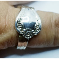 Ring,  thumb ring, spoon ring, Magnolia sizes 9-12, upcycled, vintage silverware, spoons