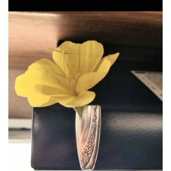 Bud vase, Mommy vase, flower holder, magnetic, refrigerator magnet, flower holder, kids gifts, silverware vase, upcycle