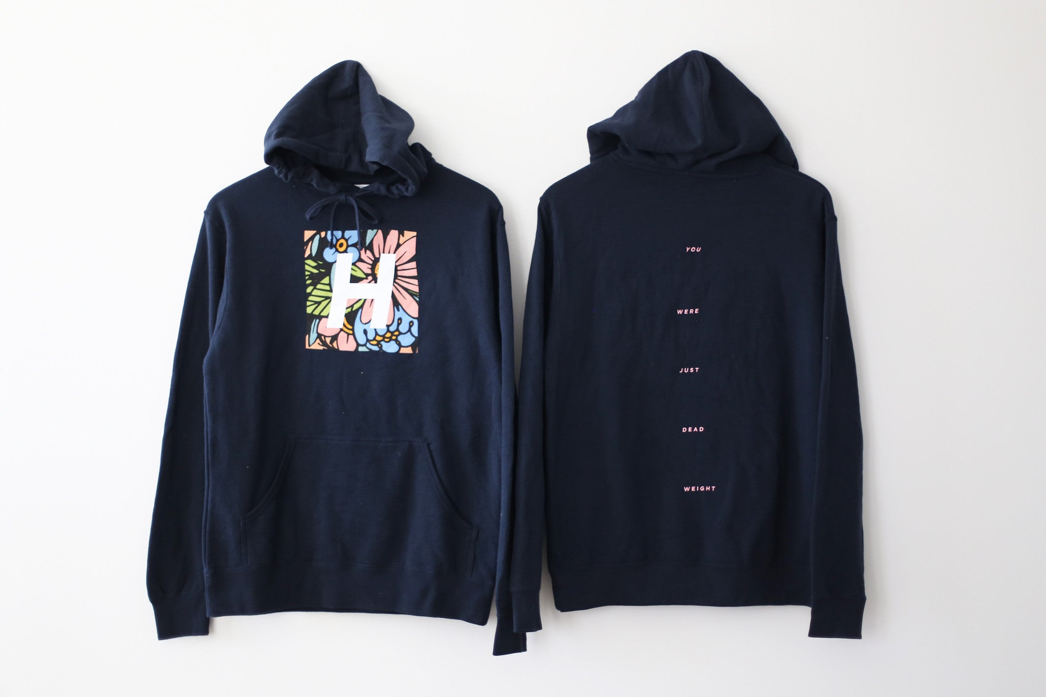 THE FLOWER H HOODIE (NAVY)