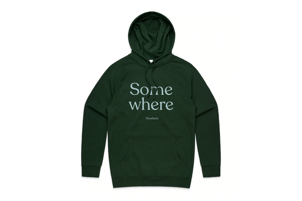 THE SOMEWHERE NOWHERE HOODIE (FOREST)