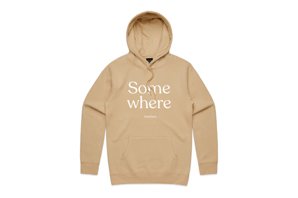 THE SOMEWHERE NOWHERE HOODIE (NUDE)