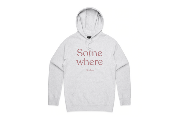 THE SOMEWHERE NOWHERE HOODIE (LIGHT HEATHER)