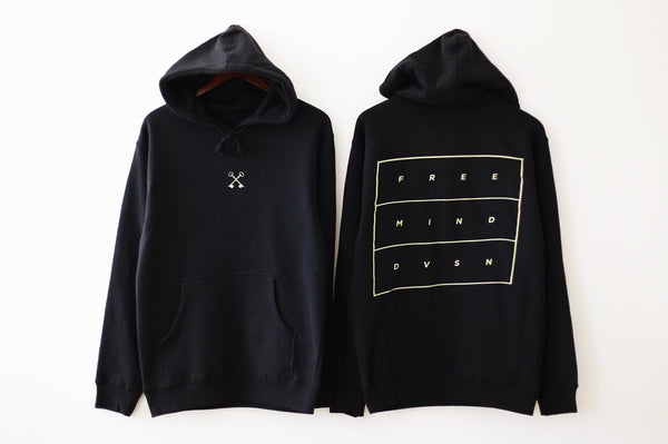 THE EMBROIDERED HOODIE (BLACK)