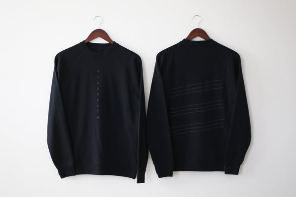 THE REFLECTIVE LINES CREWNECK (BLACK)