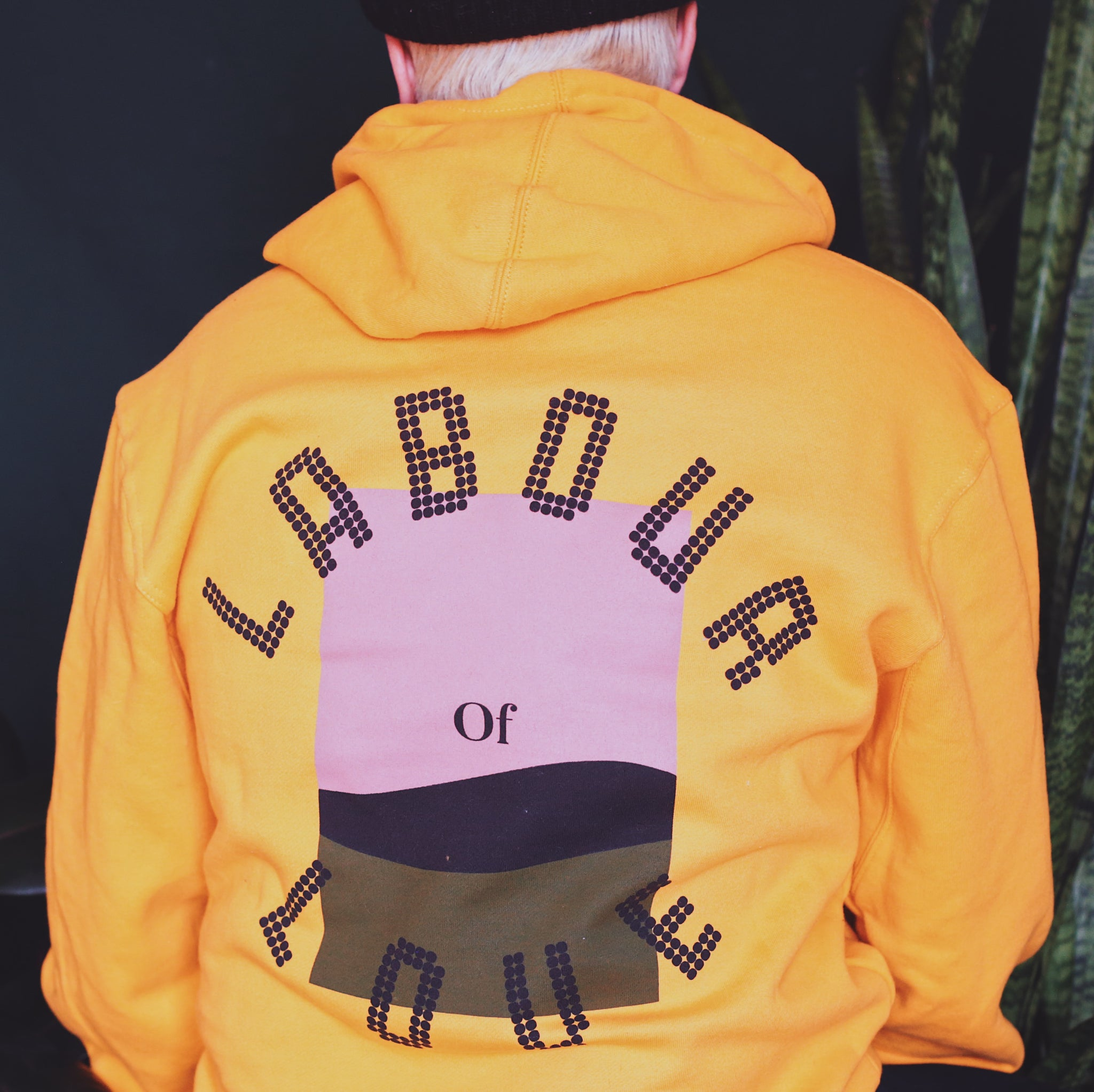 THE LABOUR OF LOVE HOODIE (MUSTARD)