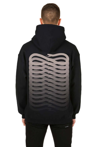 Black On Black Ribbs Hoodie - Propaganda Clothing