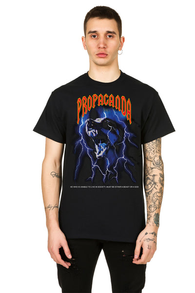 T-Shirt Black Dog - Propaganda Clothing