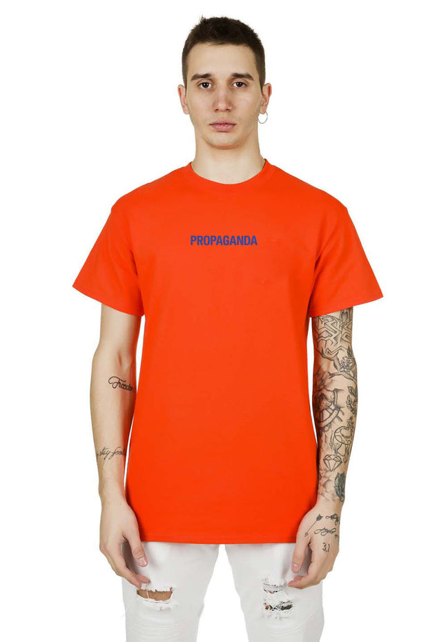 T-Shirt Orange Ribbs Blue