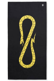 Beach Towel Black Yellow