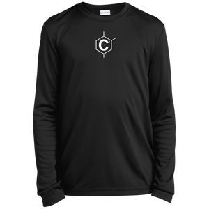 (UN)Disc2overed Hexa C2 logo Youth Long Sleeve Moisture-Wicking T-Shirt