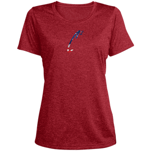 (UN)Disc2overed Memorial Day Sig C2 logo Ladies' Heather Dri-Fit Moisture-Wicking T-Shirt