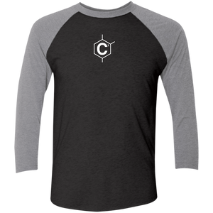 (Un)Disc2overed Hexa C2 Logo Tri-Blend 3/4 Sleeve Baseball Raglan T-Shirt