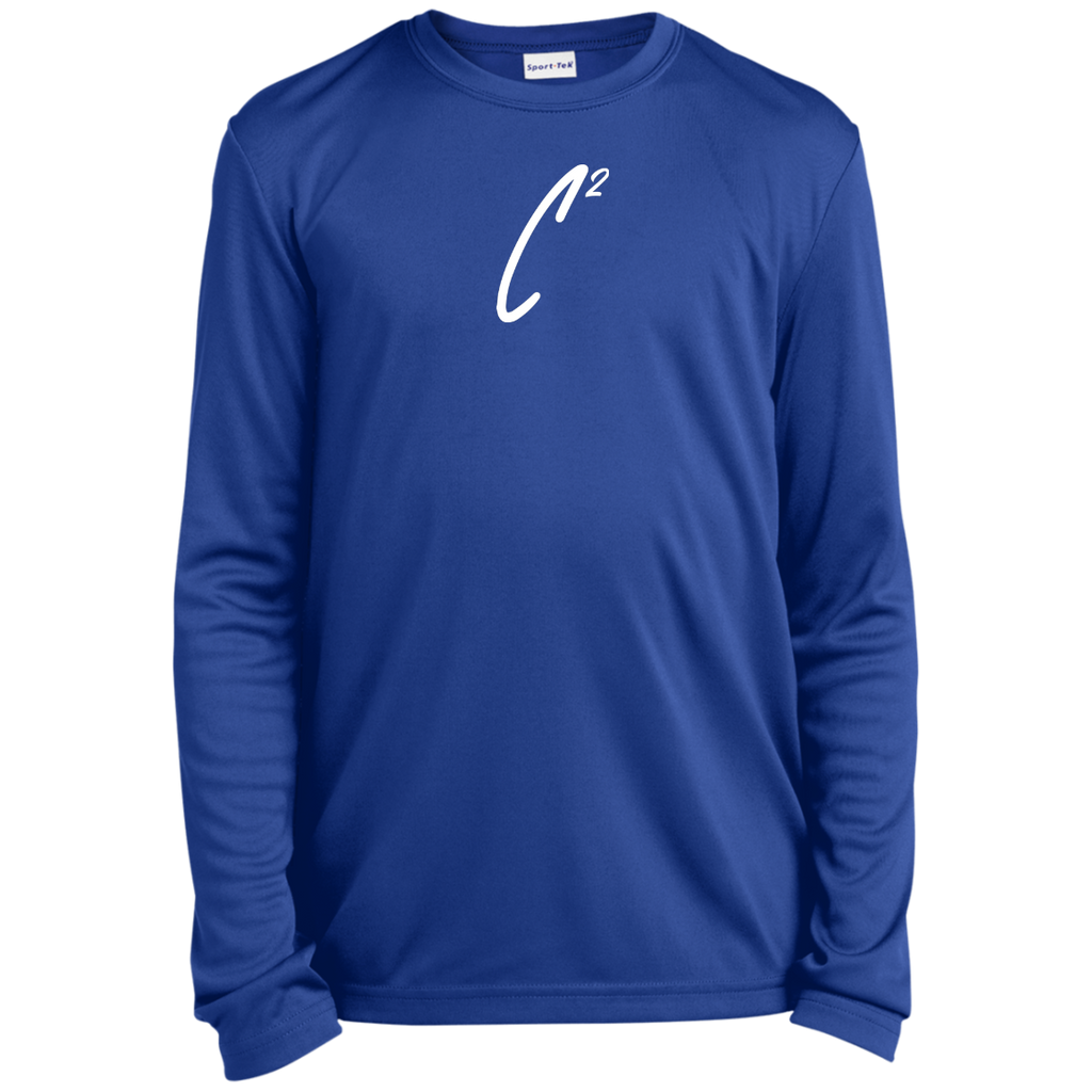(UN)Disc2overed Sig C2 logo Youth Long Sleeve Moisture-Wicking T-Shirt