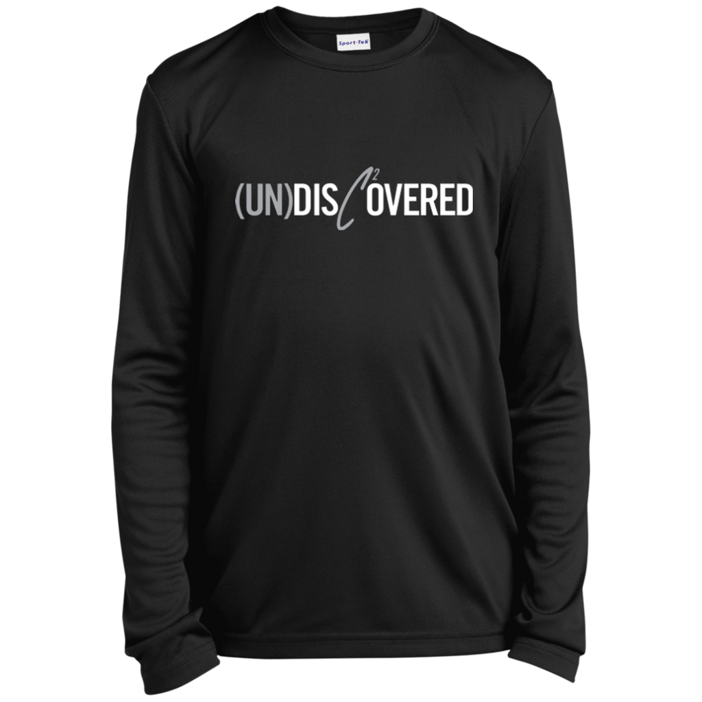 (UN)Disc2overed sig logo Youth Long Sleeve Moisture-Wicking T-Shirt