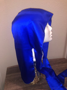 100% Silk Durag - Electric Blue (Unisex)