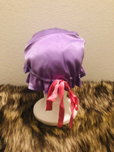 Load image into Gallery viewer, 100% Silk Baby Bonnet - Lavender & Powder Pink