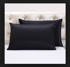 100% Silk Pillowcase - BLACK