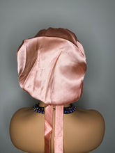 Load image into Gallery viewer, 100% Silk Hair Bonnet -ROSE GOLD (Signature SJ)