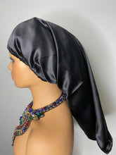 Load image into Gallery viewer, 100% Silk Wig/Braid Bonnet - Black