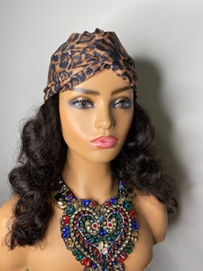 Leopard Turban with 100% SILK Lining