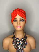 Load image into Gallery viewer, Red Turban with 100% SILK Lining