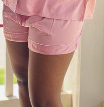 Load image into Gallery viewer, Rose Gold Satin Pajama Short Set