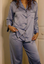 Load image into Gallery viewer, Icy Blue Pajama Pants Set
