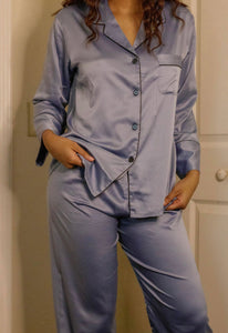 Icy Blue Pajama Pants Set