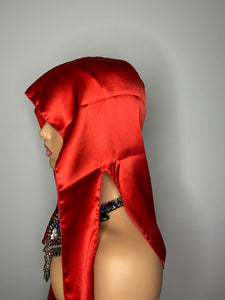 100% Silk Durag - Deep Red (Unisex)