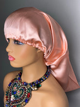 Load image into Gallery viewer, 100% Silk Wig/Braid Bonnet - Rose Gold