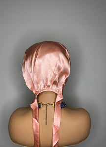 100% Silk Hair Bonnet -ROSE GOLD (Signature SJ)