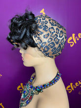 Load image into Gallery viewer, Leopard Turban with 100% SILK Lining