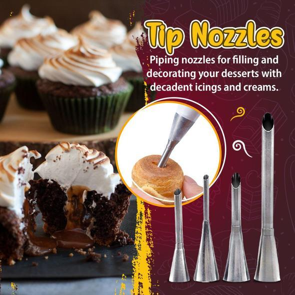 Cream Piping Tip Nozzles Kit