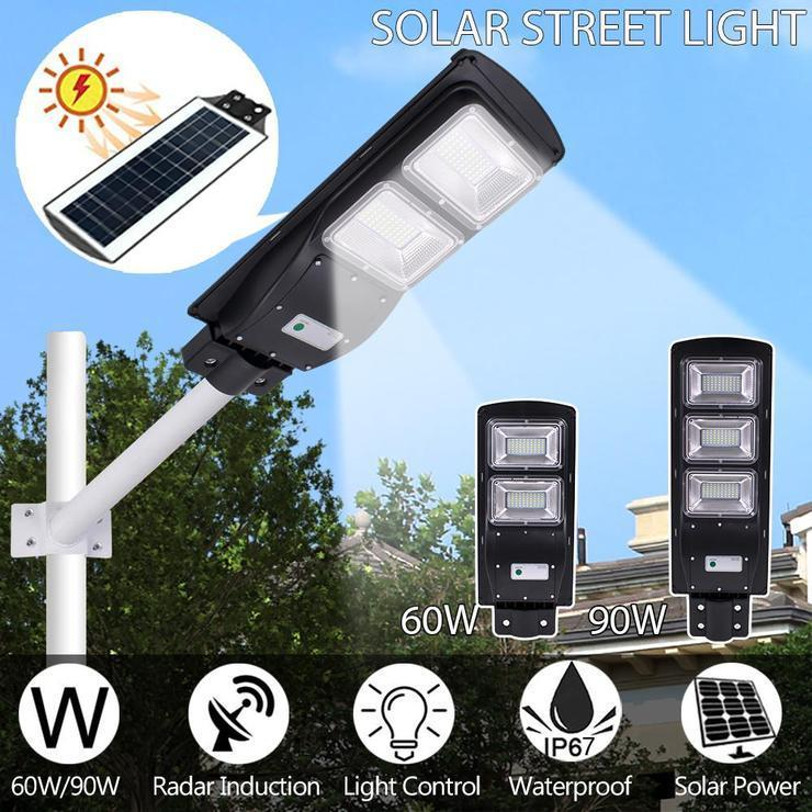 SolarMax - 3200 Lumens - 60W - 120LED Solar Street Light
