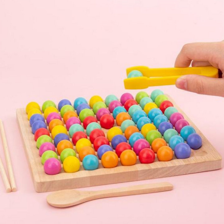 Wooden Board Bead Game