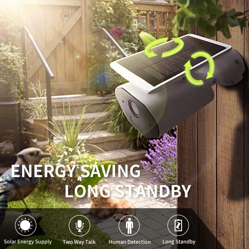 Solar-Powered WiFi Security Camera