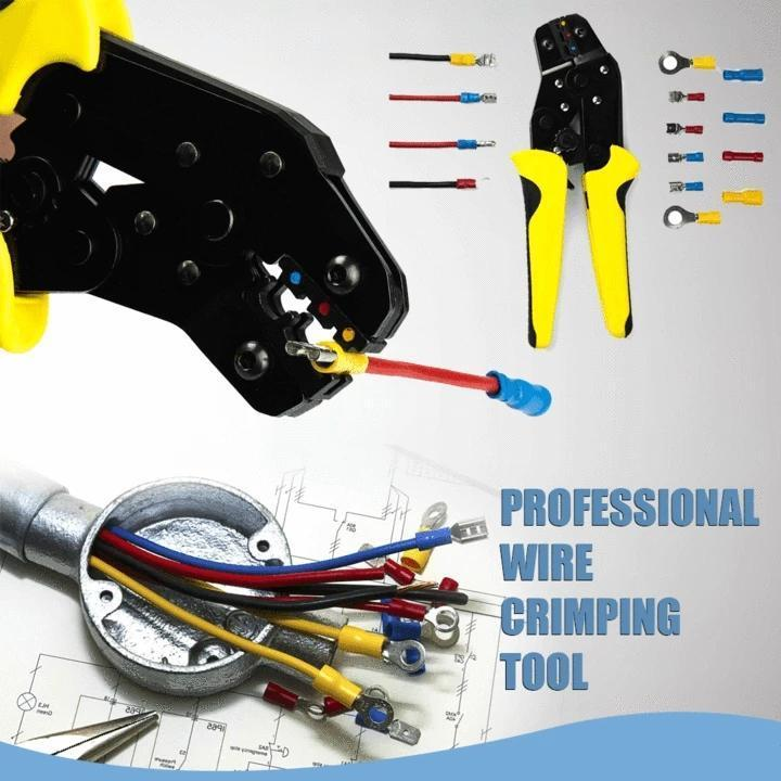 Multi-Function Wire Crimpers Engineering Ratchet Terminal Crimping Pliers