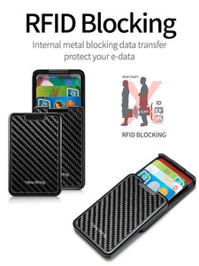 RFID Blocking Sliding Wallet Card Holder