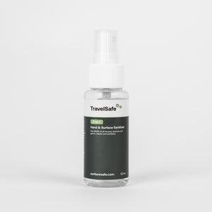 TravelSafe | Hand & Surface Sanitiser 50ml