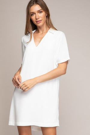 The must have white shift dress