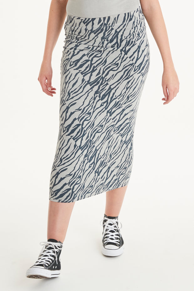 Ada Animal Midi Skirt