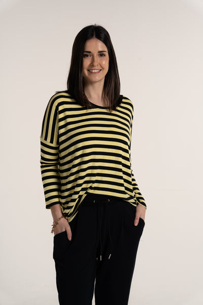 Sonia Stripe Long Sleeved Top