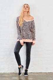 Sundae Tee Kerra Animal Print Sweat