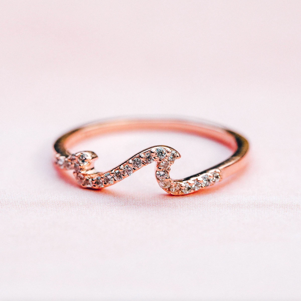 Studded Wave Ring
