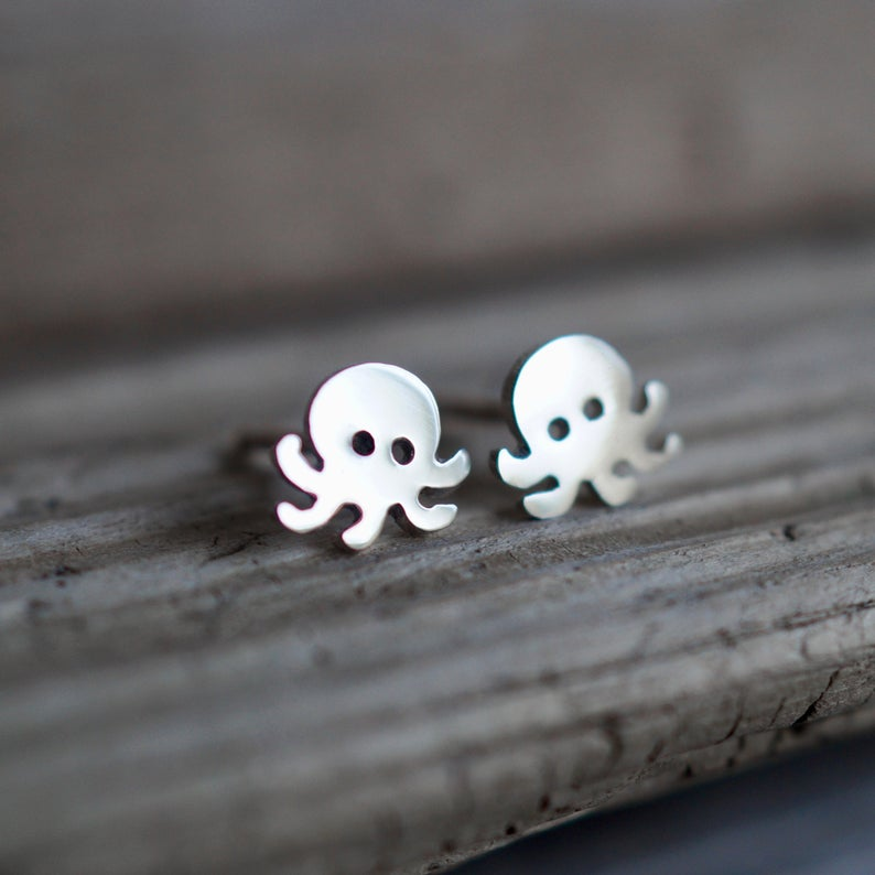 Mini Squid Earrings
