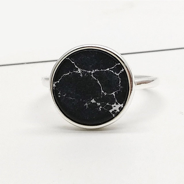 Marble Round Ring