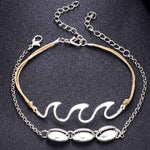 Wave / Shell Anklet