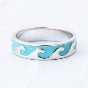 Reverse Enamel Wave Ring