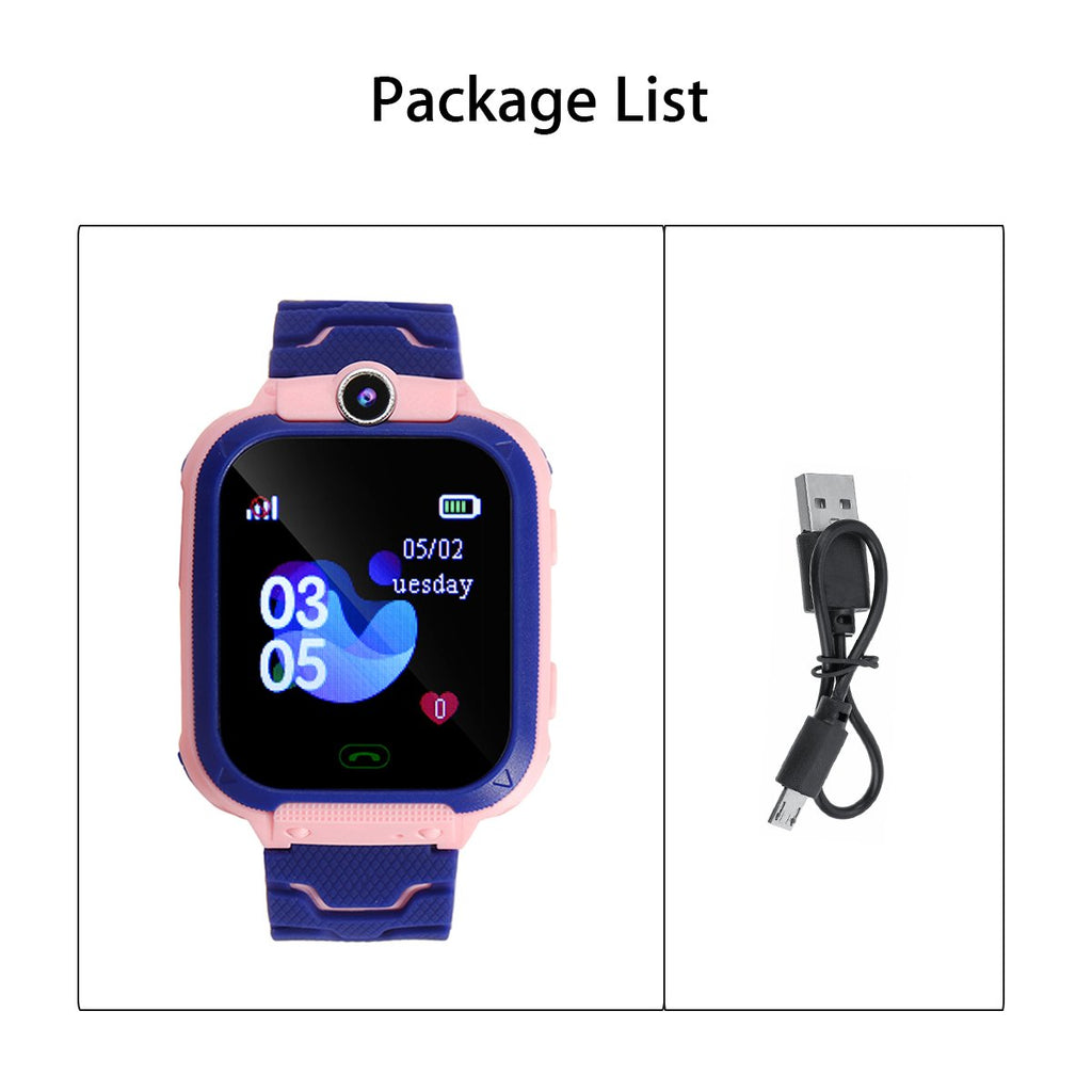 Anti-Lost Kids Smart Watch - GSM SIM Phone Touch Camera Locator Alarm Children - Q12B