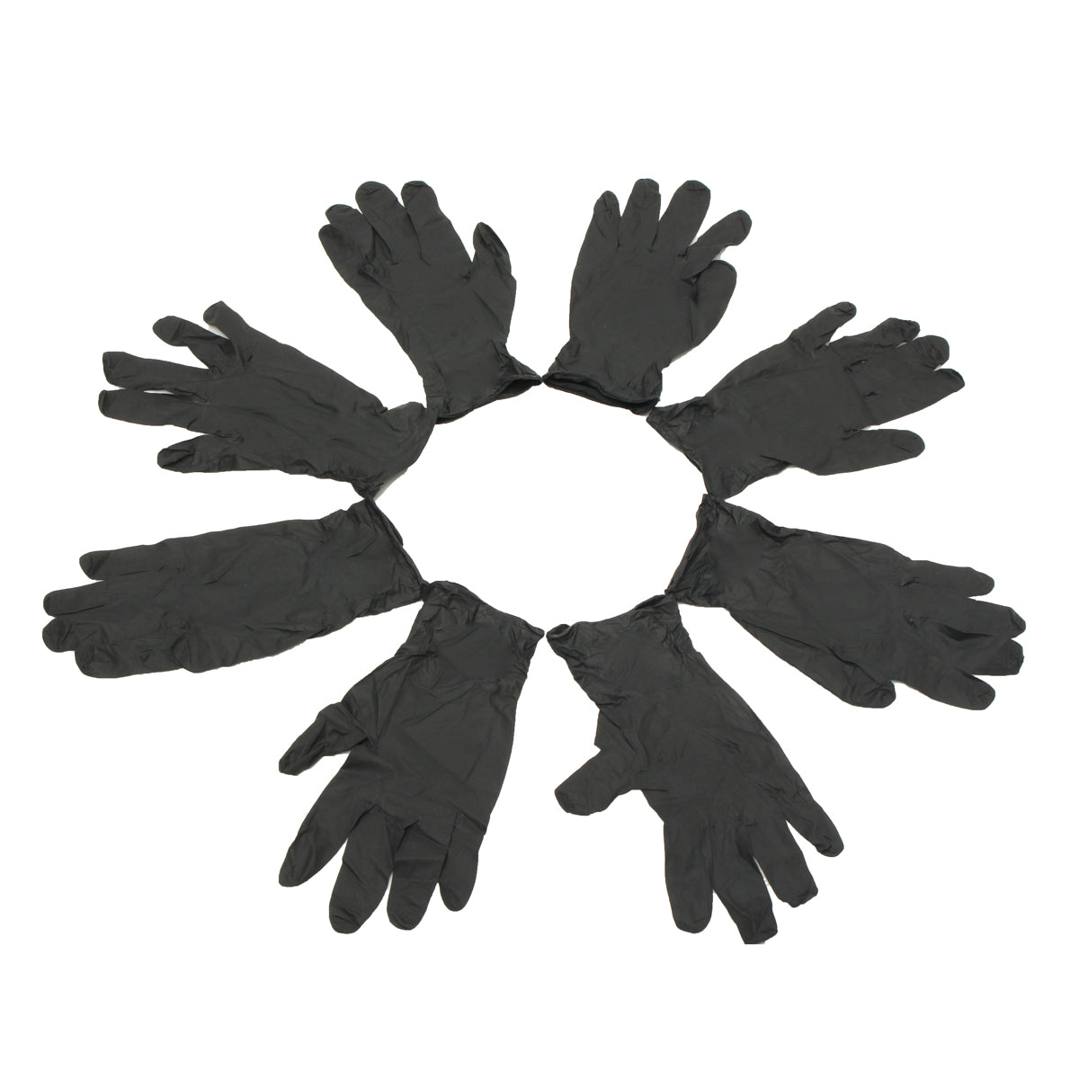 100Pcs S/M/L Black Latex-free Gloves Disposable Gloves Nitrile - Tattoo Piercing Mechanic Medical Gloves